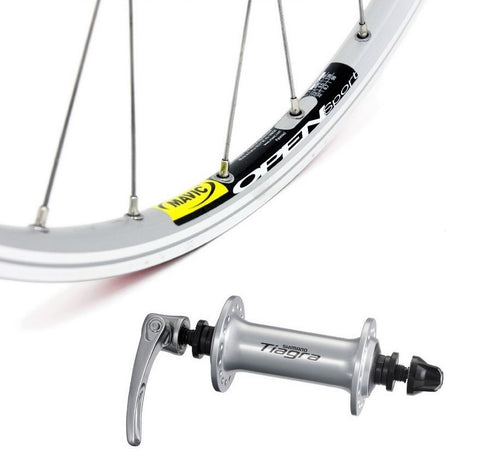 Mavic Open Sport Silver 700C Front Wheel on Shimano Tiagra Hub