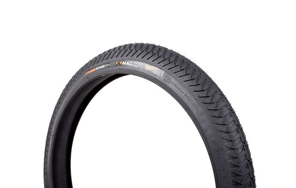 "KHE MAC 2+ Bicycle Dirt Pattern BMX Tyre 20"" x 2.20"" Black"