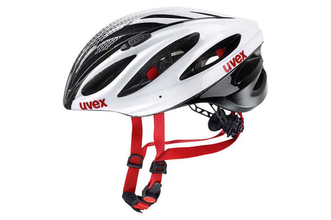 Uvex Boss Race White & Black Cycling Helmet