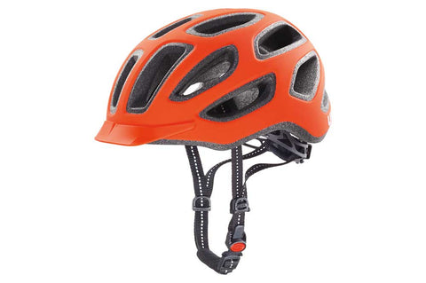 Uvex City E Neon Orange Bicycle Helmet
