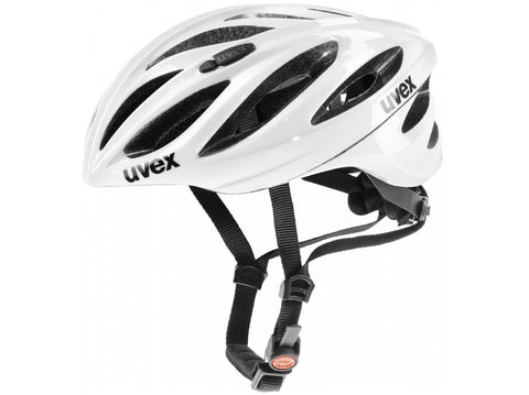 Uvex Boss Race White Cycling Helmet