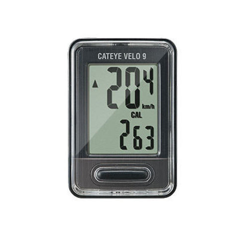 Cateye Velo 9 Wired Cycle Computer Black