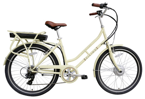 B Grade Viking Downtown 36 Electric Bike 6 Speed 250w 3 Mode Assist Ivory