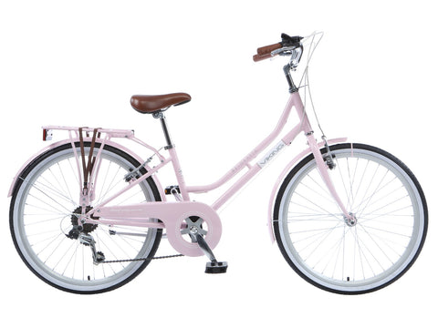 "B Grade Viking Belgravia Girls Traditional Heritage 20"" Wheel 6 Speed Bike Pink"