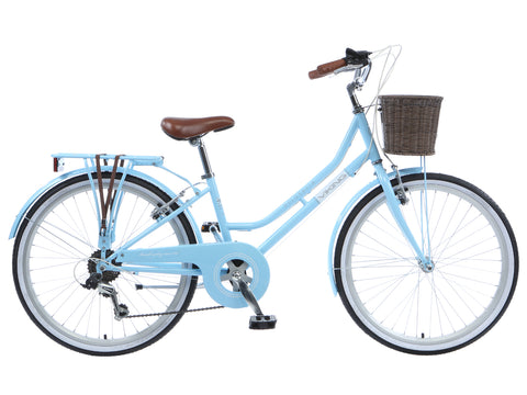 "Viking Belgravia Girls Traditional Heritage 24"" Wheel 6 Speed Bike Blue"