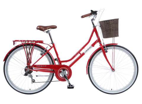 "2017 Viking Belgravia 18"" Ladies Traditional 6 Speed Bike Red"