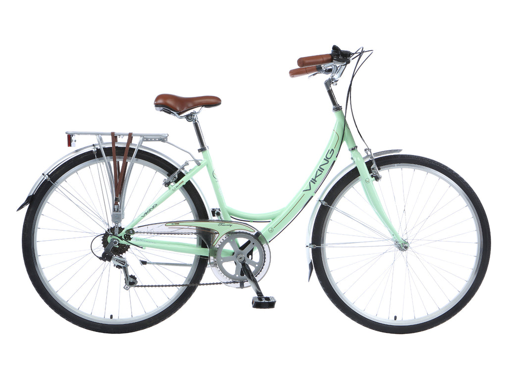 "B Grade 2017 Viking Tuscany 18"" Ladies Traditional 6 Speed Bike Mint Green"