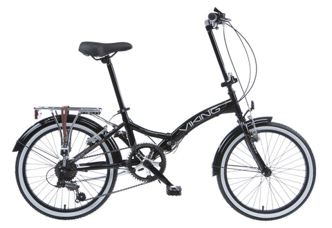 "2017 Viking Metropolis 20"" Wheel 6 Speed Folding Bike Black"