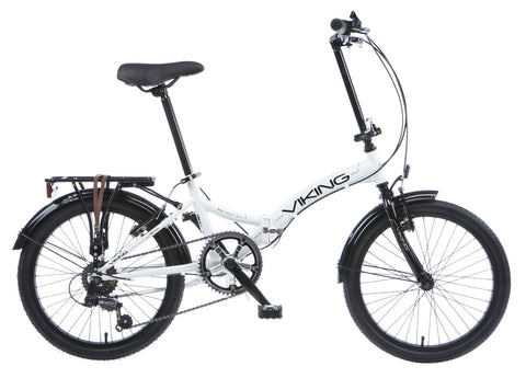 "2017 Viking Metropolis 20"" Wheel 6 Speed Folding Bike White"