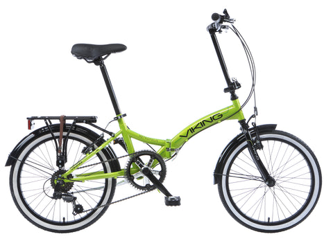"2017 Viking Metropolis 20"" Wheel 6 Speed Folding Bike Green"