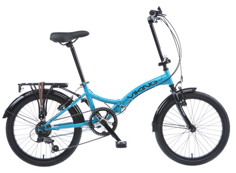 "2017 Viking Metropolis 20"" Wheel 6 Speed Folding Bike Blue"