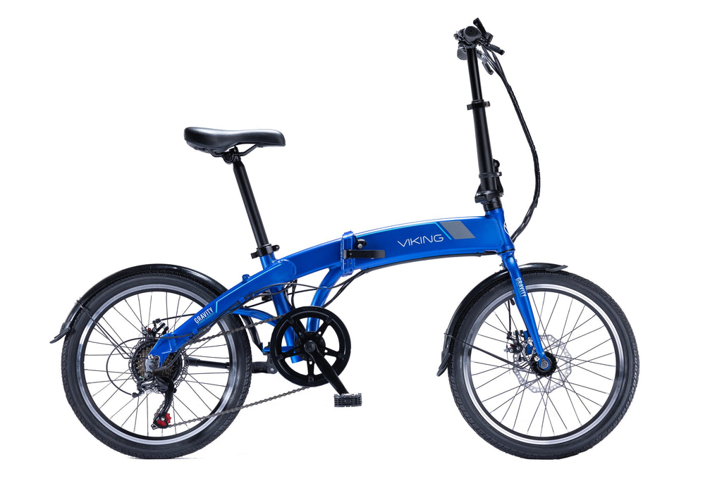 "Viking Gravity eBike 20"" Folding 24V 250W Electric Bike Blue"