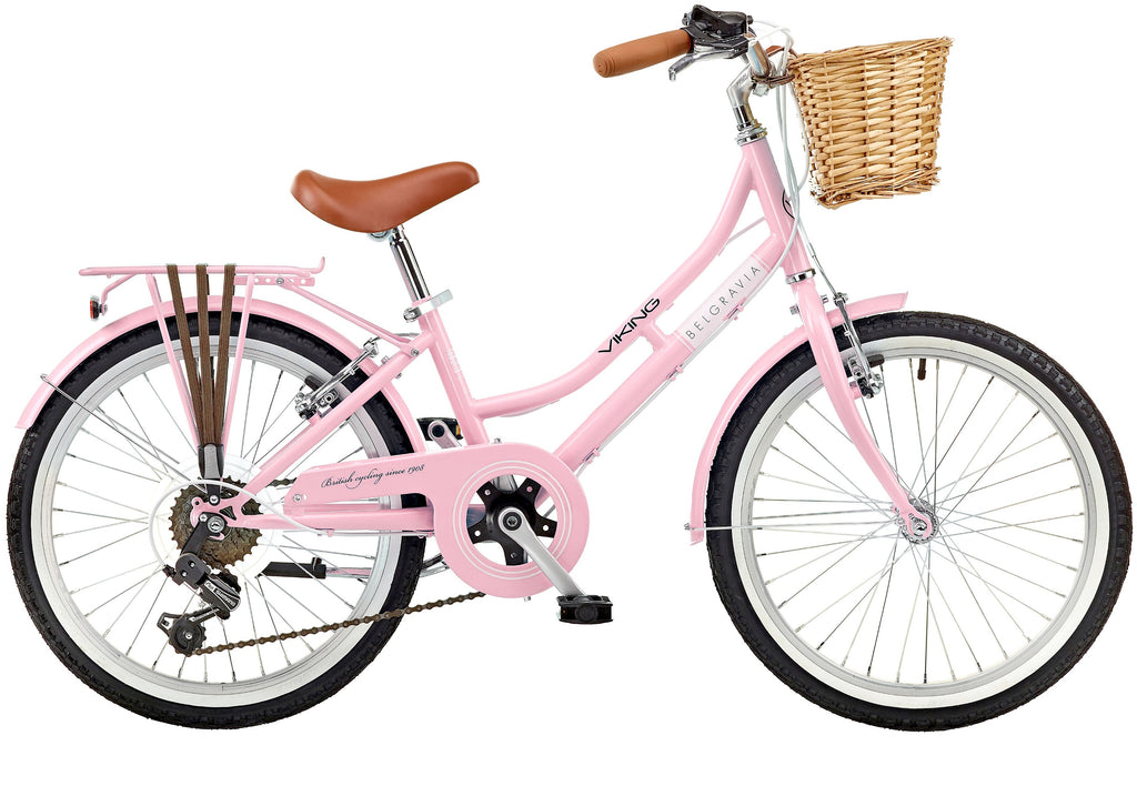 "2018 Viking Belgravia Girls Traditional Heritage 20"" Wheel 6 Speed Bike Pink"