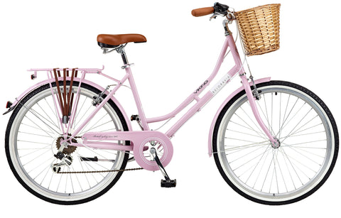 "2018 Viking Belgravia Ladies Traditional Heritage 26"" Wheel 6 Speed Bike 18"" Pink"