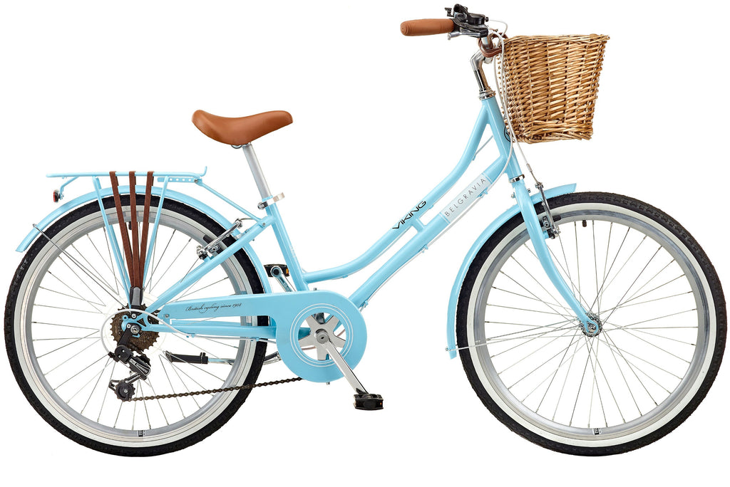 "2018 Viking Belgravia Girls Traditional Heritage 24"" Wheel 6 Speed Bike Blue"