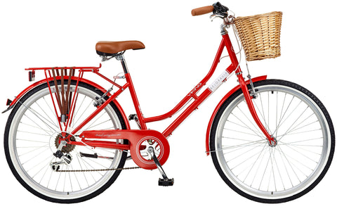 "2018 Viking Belgravia Ladies Traditional Heritage 26"" Wheel 6 Speed Bike Red"