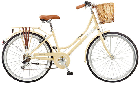 "2018 Viking Belgravia Ladies Traditional Heritage 26"" Wheel 6 Speed Bike Latte"