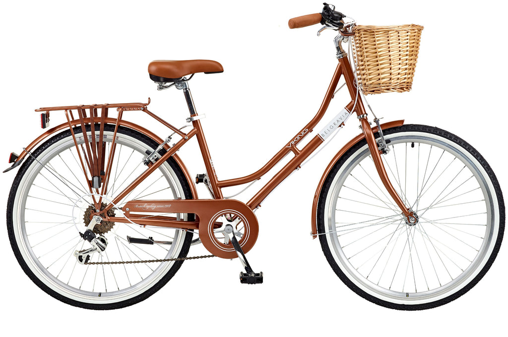 "B Grade 2018 Viking Belgravia Ladies Traditional Heritage 26"" Wheel 6 Speed Bike 16"" Copper"