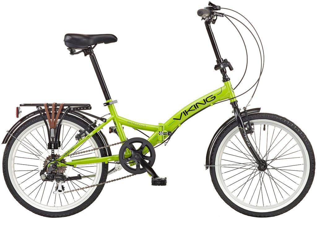 "2018 Viking Metropolis 20"" Wheel 6 Speed Folding Bike Green"