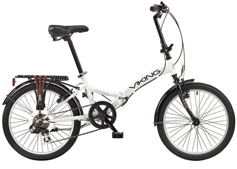 "B Grade 2018 Viking Metropolis 20"" Wheel 6 Speed Folding Bike White"