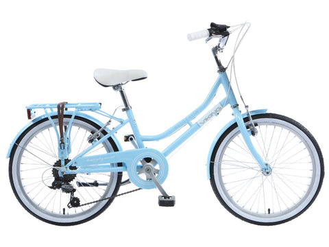 "B Grade Viking Belgravia Girls Traditional Heritage 20"" Wheel 6 Speed Bike Blue"