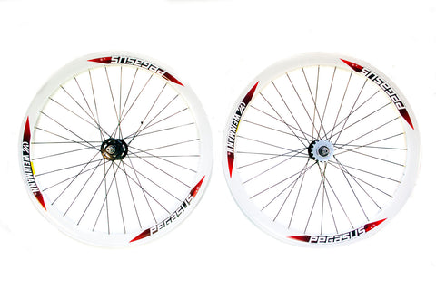 700c Pegasus Single Speed Fixie Flip Flop Wheels White
