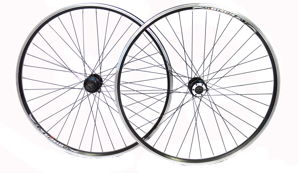 700c Weinmann Front and Rear QR Cass Disc Hybrid Boxed Wheelset