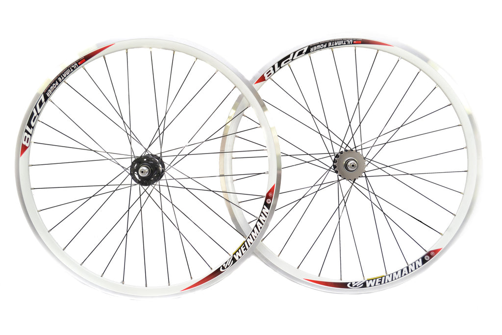700c Sealed Novatec Hubs Single Speed Fixie Flip Flop Wheels White