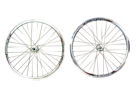 700c Flip Flop Single Speed Fixie Fixed Wheelset Silver