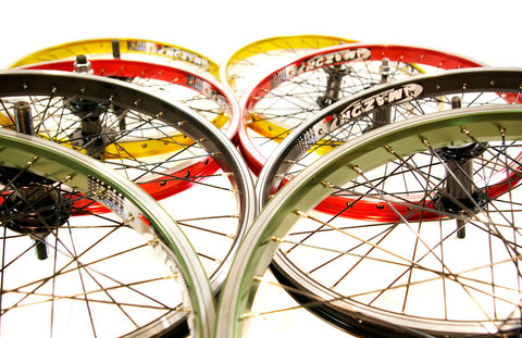 BMX Anodized Wheelset 10/14mm Axles 9T Cas