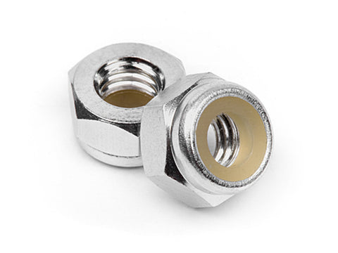 HPI Aluminium Lock Nuts M4 (Silver/10 pieces) Z866