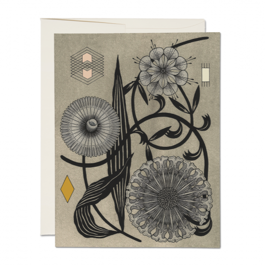 Card | Floral Geometry