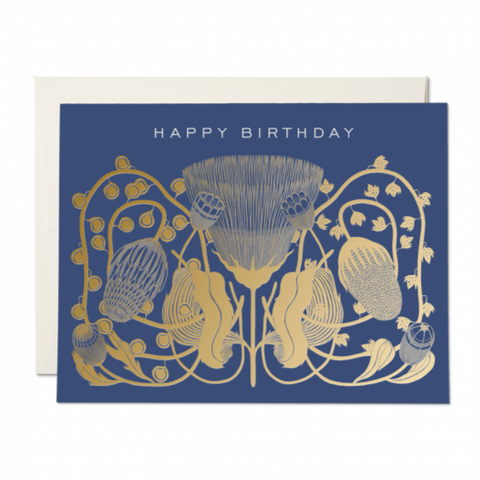 Card | Blue Floral Birthday