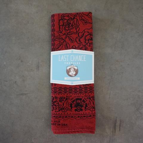 Last Chance Textiles | Madder Red Silk Bandana