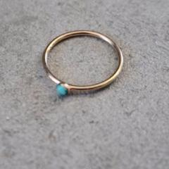 The Land of Salt | Turquoise & Gold Stacking Ring