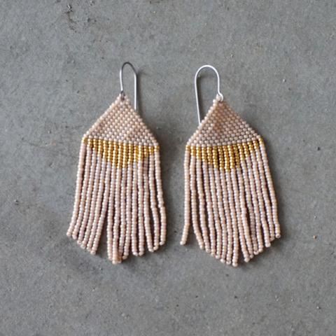 Woven Wyld | Sand Beaded Earrings