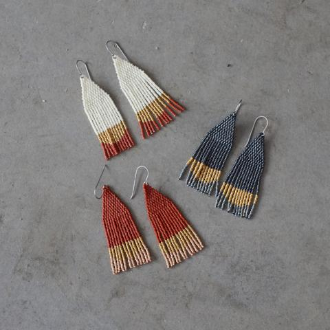 Woven Wyld | Mini Moon Beaded Earrings