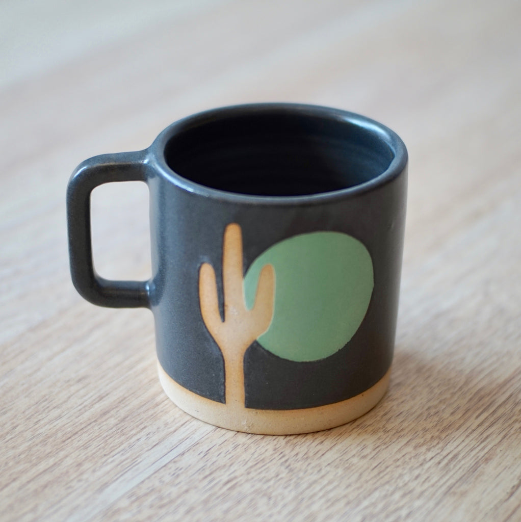 Margaret & Beau | Black & Mint Sunrise Cactus Mug