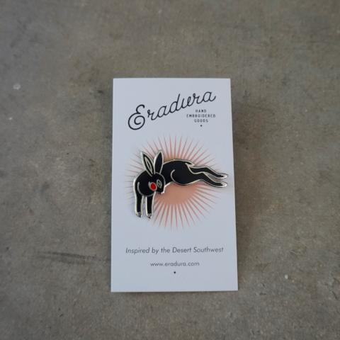 Eradura | Black Rabbit Enamel Pin