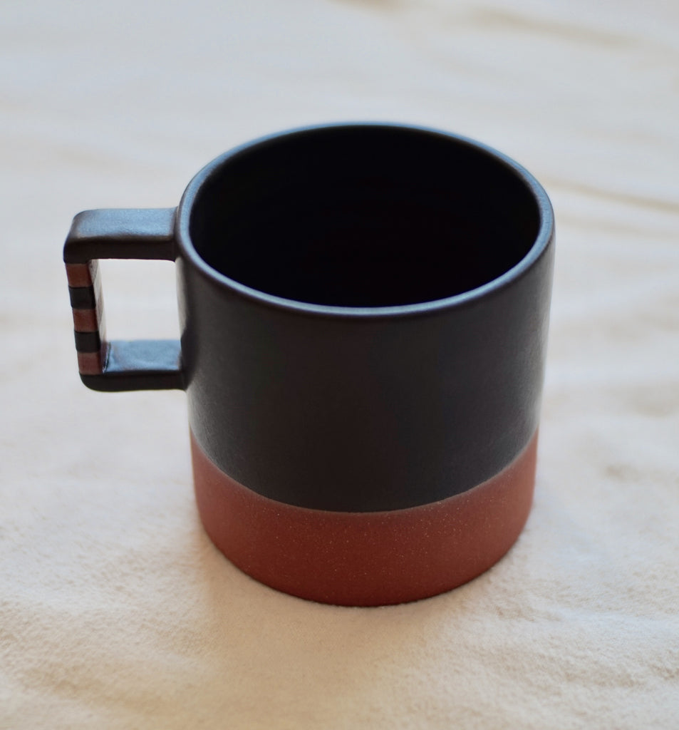 Wolf Ceramics | Striped Handle Mug