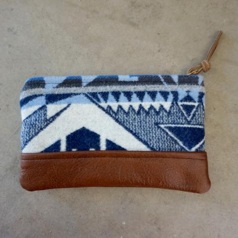 Nan-Made Objects | Wool & Leather Pouch
