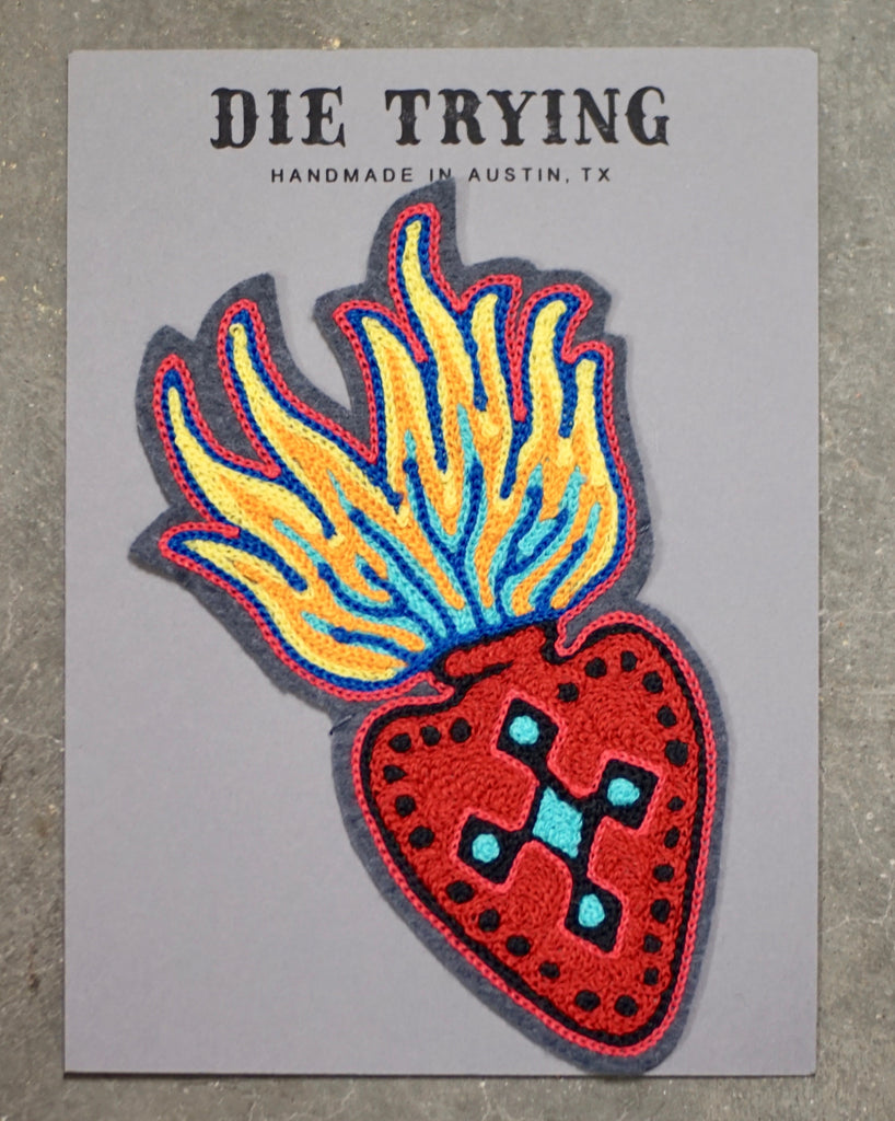 Die Trying | Flaming Heart Patch