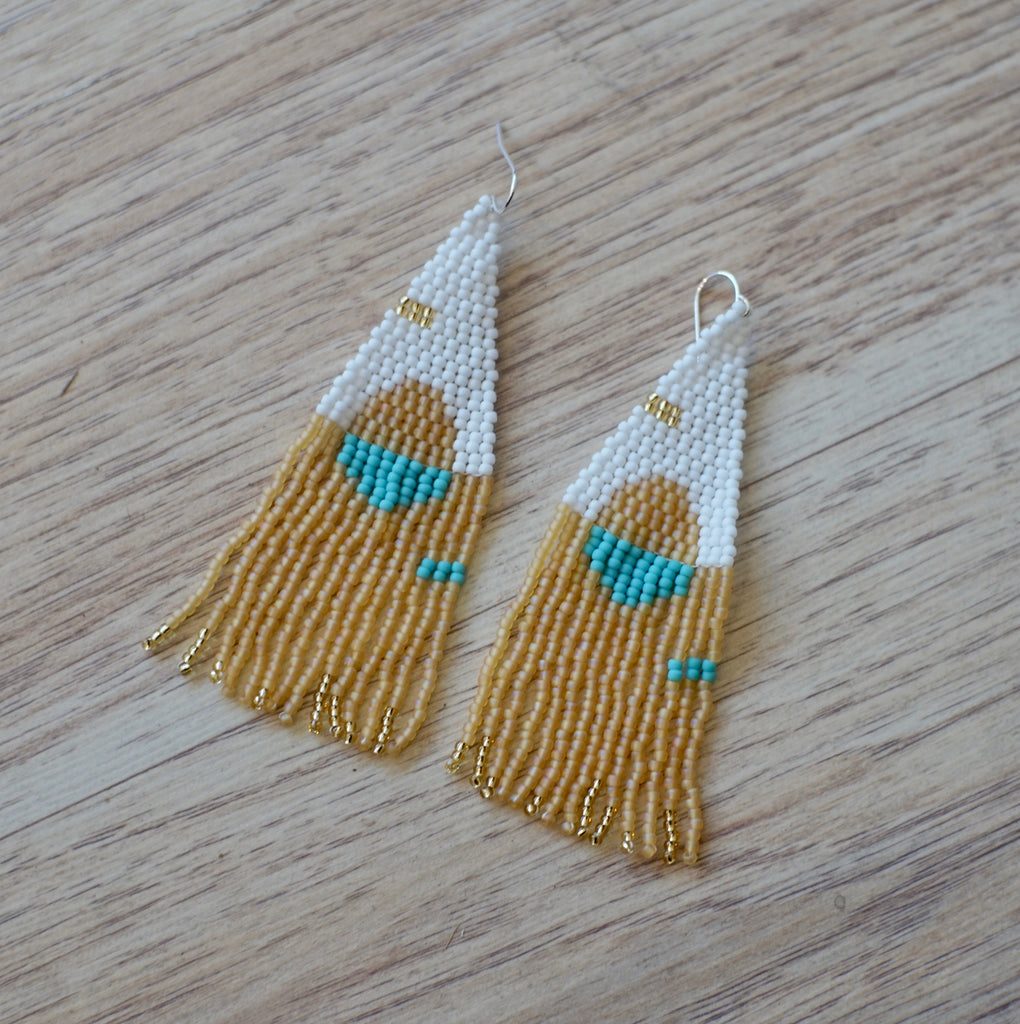 Weave Gold | Tangerine Moon Shadow Earrings