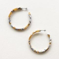 Machete | Calico Large Hoops