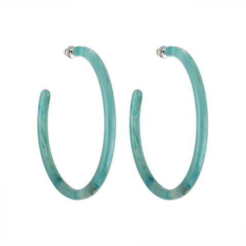 Machete | Jadeite Green Large Hoops