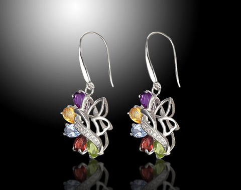 Lepapiron Multi Gemstone Earrings