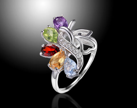 Lepapiron Multi Gemstone Statement Ring