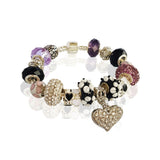 Love and Sparkle Bracelet in Black Elegance