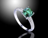 Cushion 1.5 ct Emerald Ring
