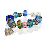 Love and Sparkle Bracelet in Ocean Waves